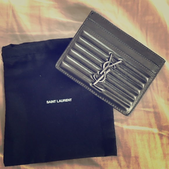 ade4167c9ccc2 YSL opium card holder in charcoal metallic